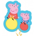 Peppa Pig Party Peppa &amp; George Bouncing Super Foil Balloon